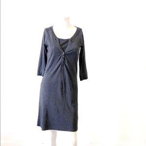 Thyme maternity grey cotton dress-XS